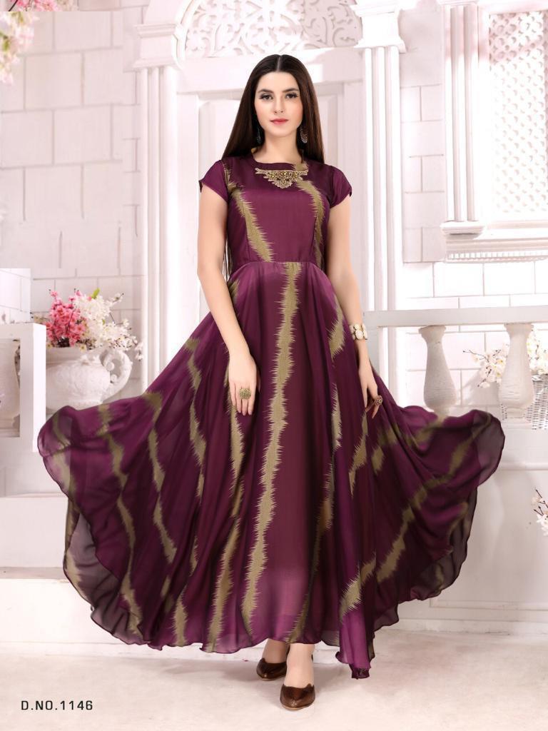 Demanding Multi Color Gown
