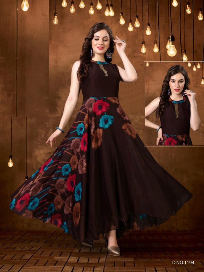 Flattering Multi Color Gown