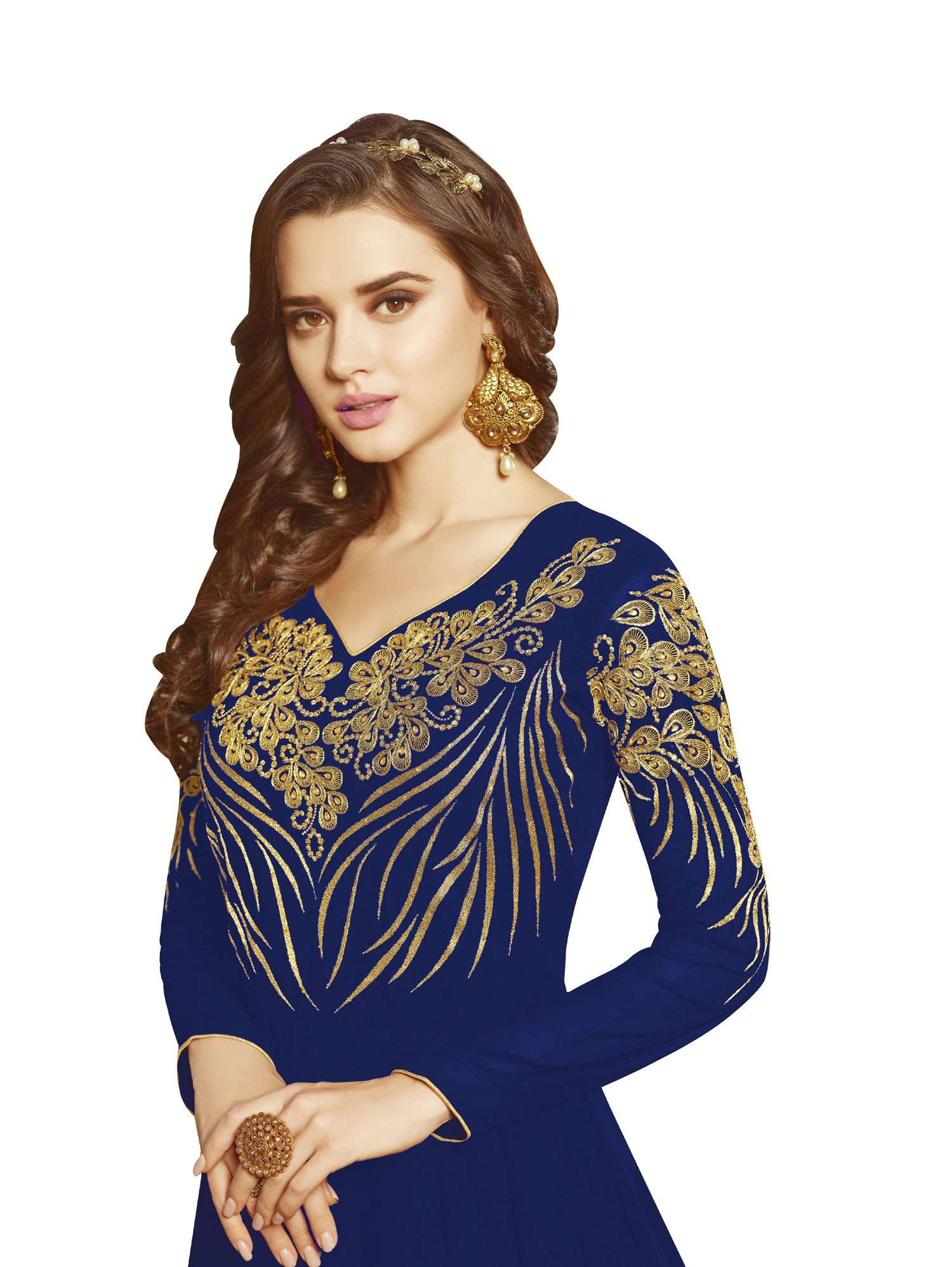 Mesmerising Georgette Anarkali Suit with heavy Embroidery