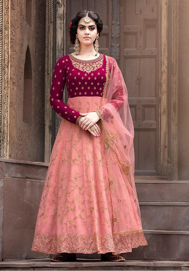 Impressive Pink Color Designer Anarkali Suit