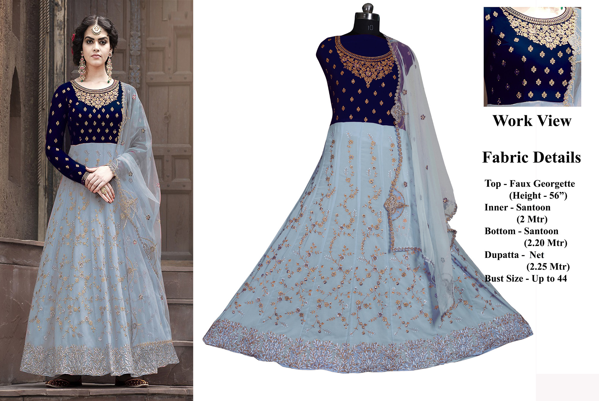 Fancy Style Anarkali Suit with Embroidery Work