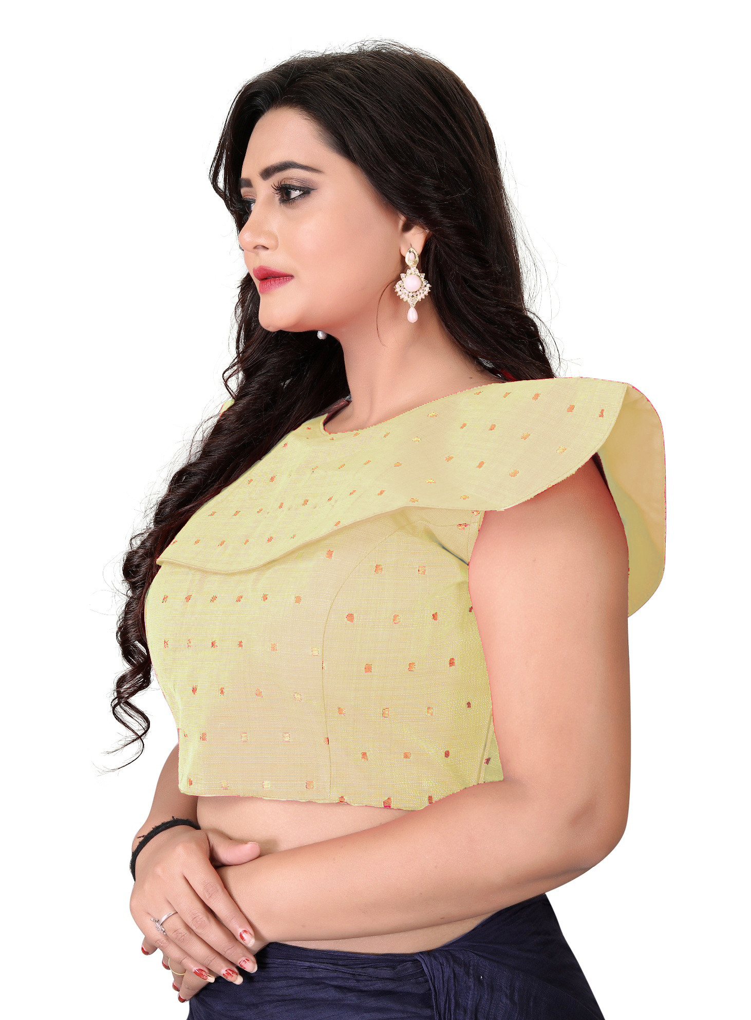 Beige Color Stitched Wedding Wear Blouse