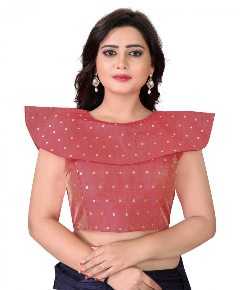 Party Wear Red Color Stitched Blouse