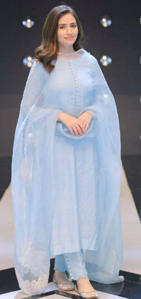 Extraordinary Sky Blue Color Salwar Suit