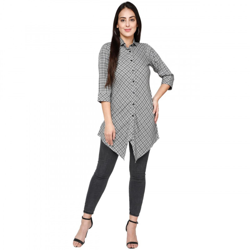 Womenn Latest Designer Gray Color Kurti