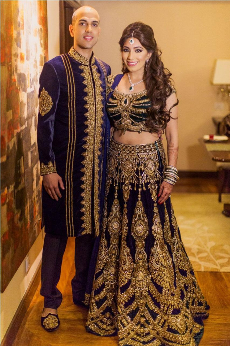 Radiant Navy Blue Color Wedding Wear Lehenga Choli
