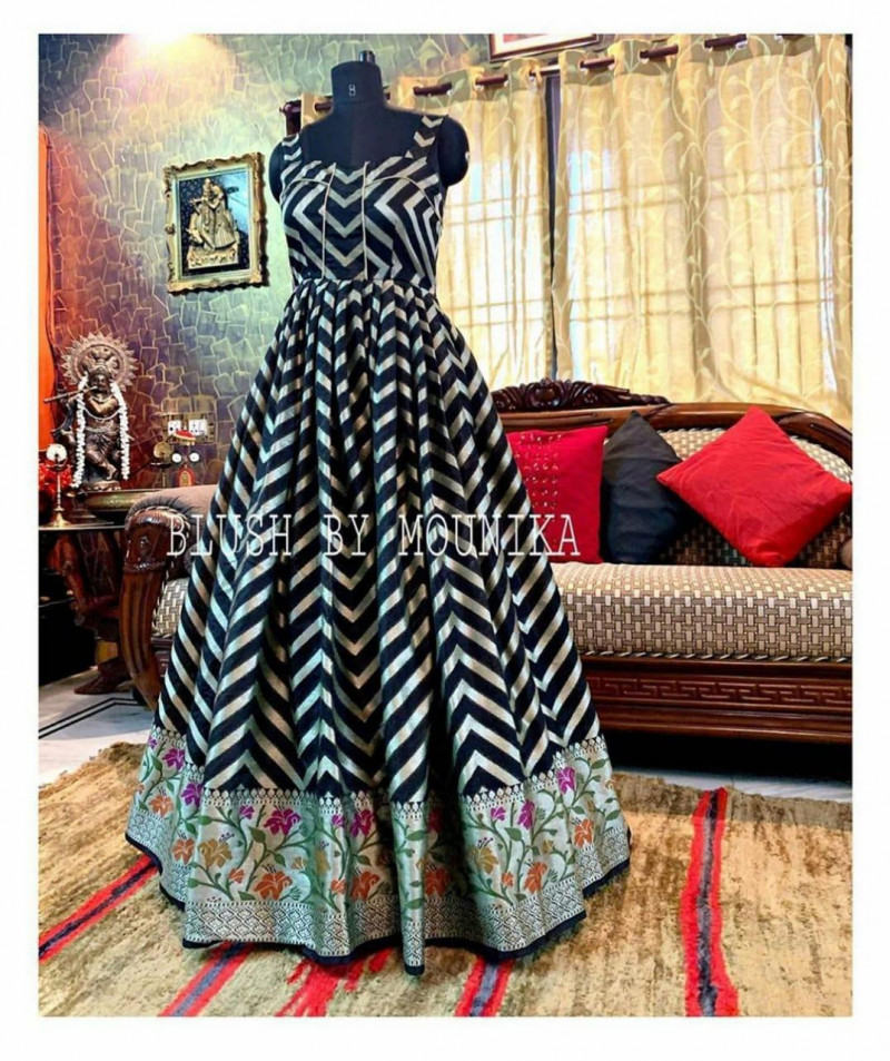 Beautiful Stylish Black Color Party Wear Gown