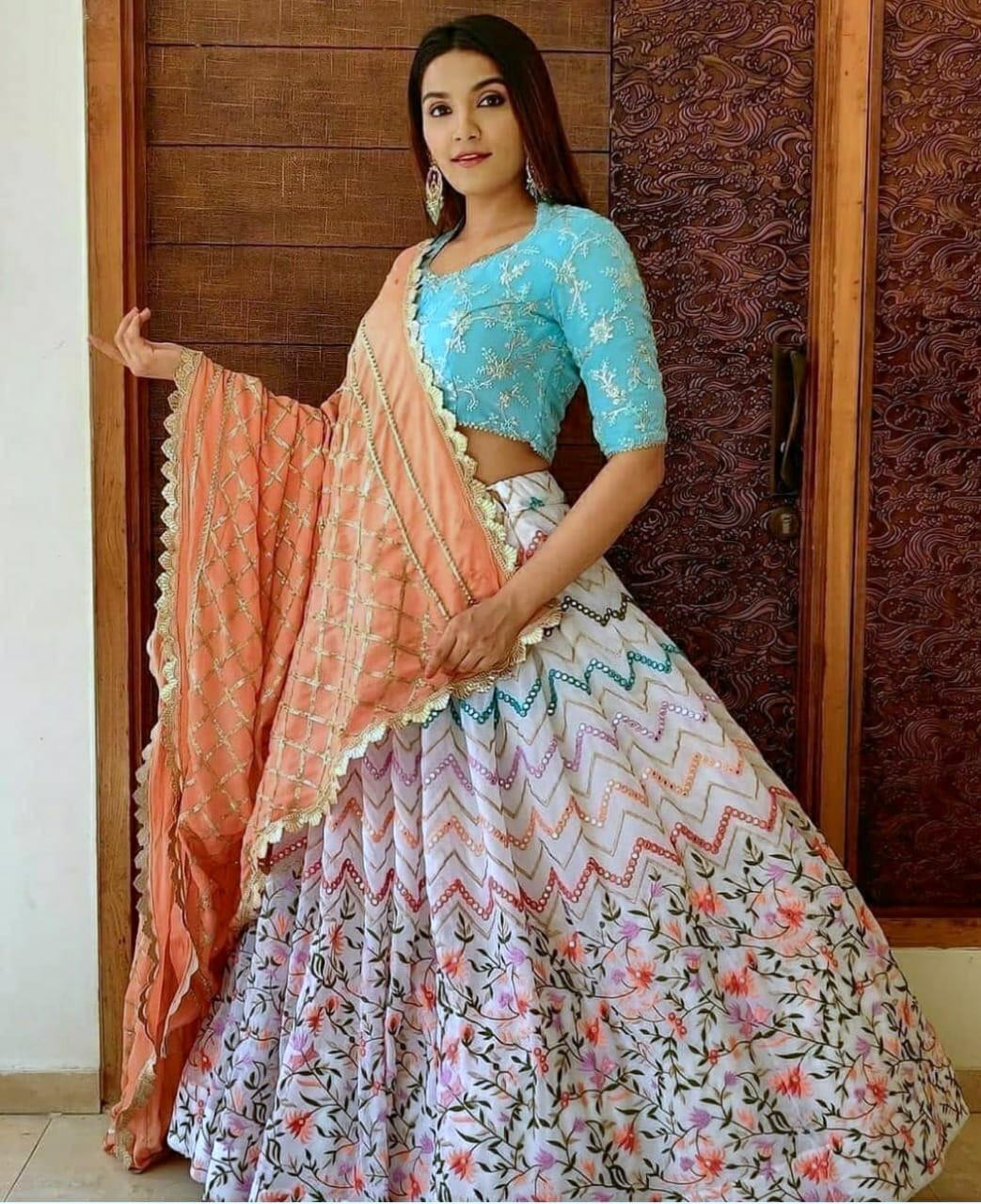 Latest New White Color Designer Lehenga Choli