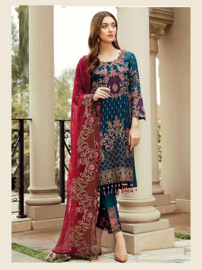 Firozi Color Pakistani Dress
