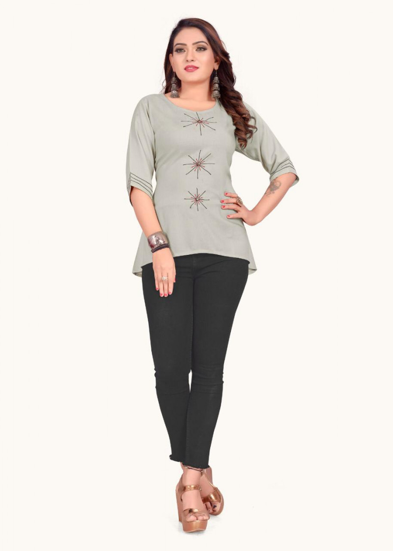 Gray Color Top For Girls