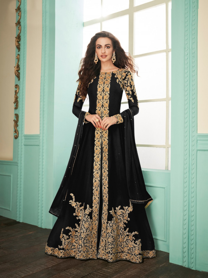 Black  Color  Wedding Suit
