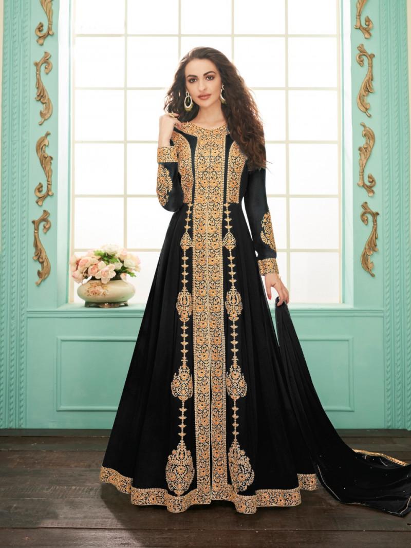 Black Color Party Wear Suit Callection