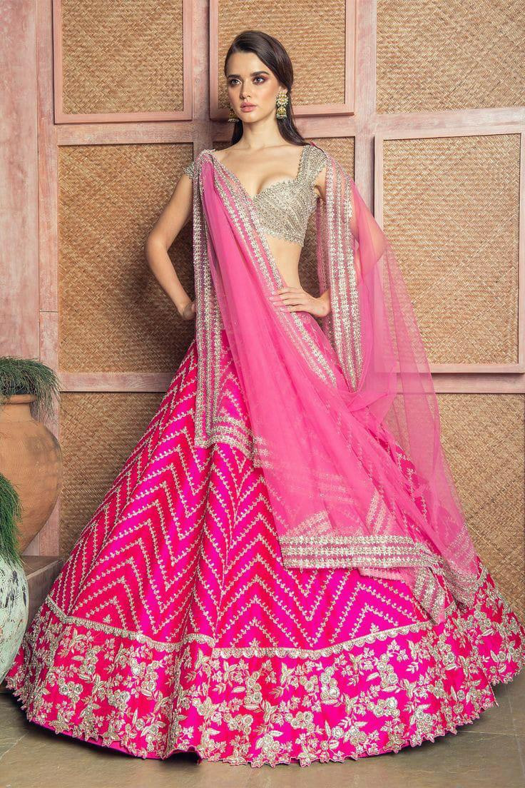 Pink Color Festival Wear Lehenga Choli