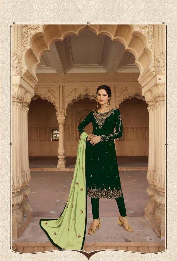 Green Color Party Wear Sharara Set