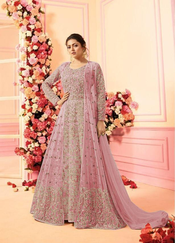 New Bollywood Light Pink Color Wedding Wear Suit