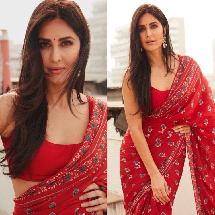 Pretty Bollywood Red Saree