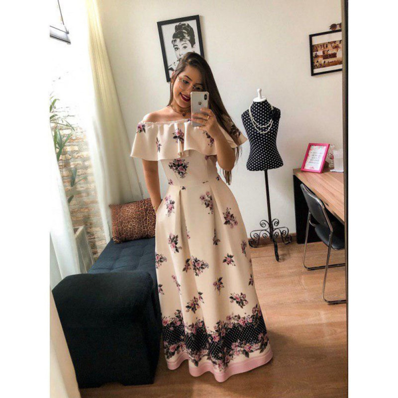 Cream Color Party Wear Long Gown