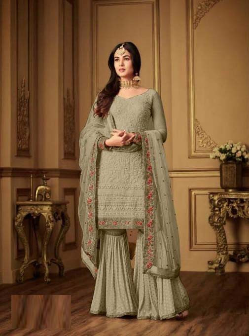 New Collection Pista Color Sharara Suit