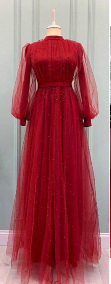 Attractive Party Wear Red Gown