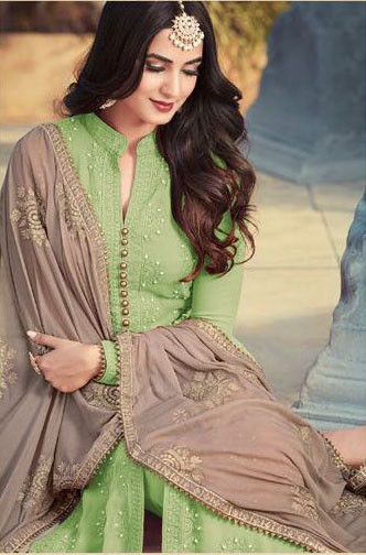 Light Green Color Pakistani Style Suit