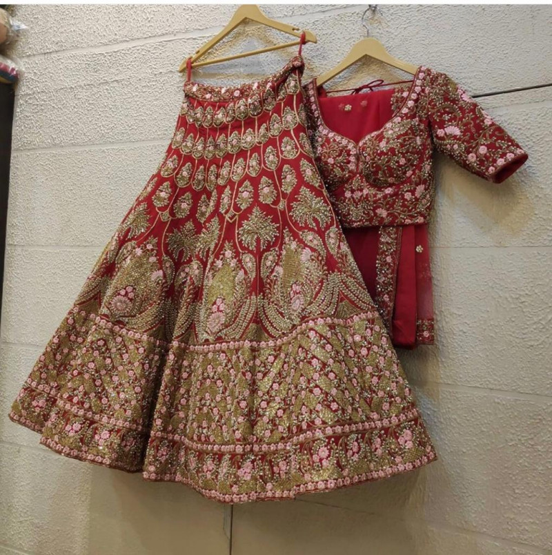 Red Color Lehenga For Bride