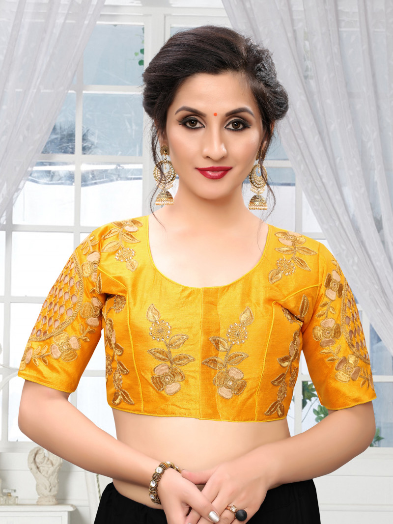 Yellow Color Blouse For Haldi