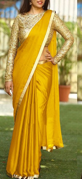 Haldi Special Yellow Color Sanna Silk Saree