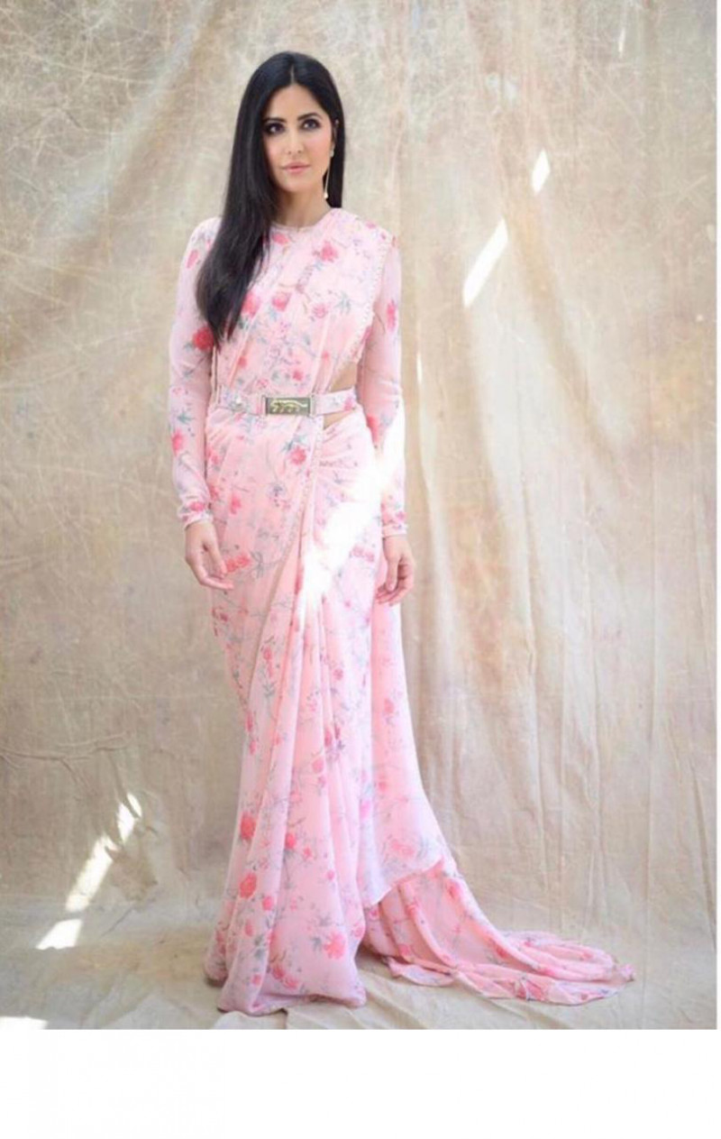 Bollywood Light Pink Color Designer Saree