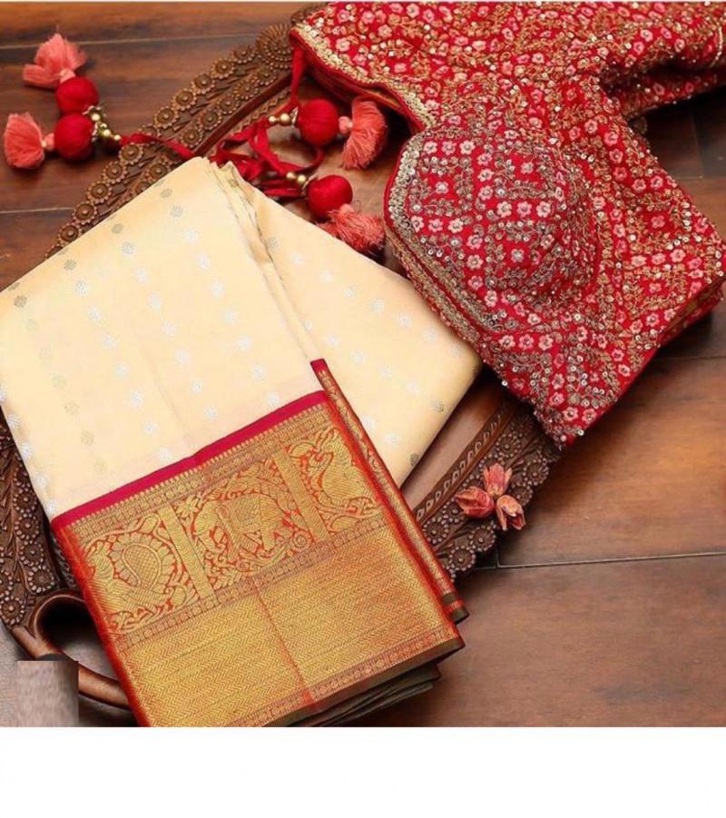 Beautiful Bnarashi saree With Jacquard Work