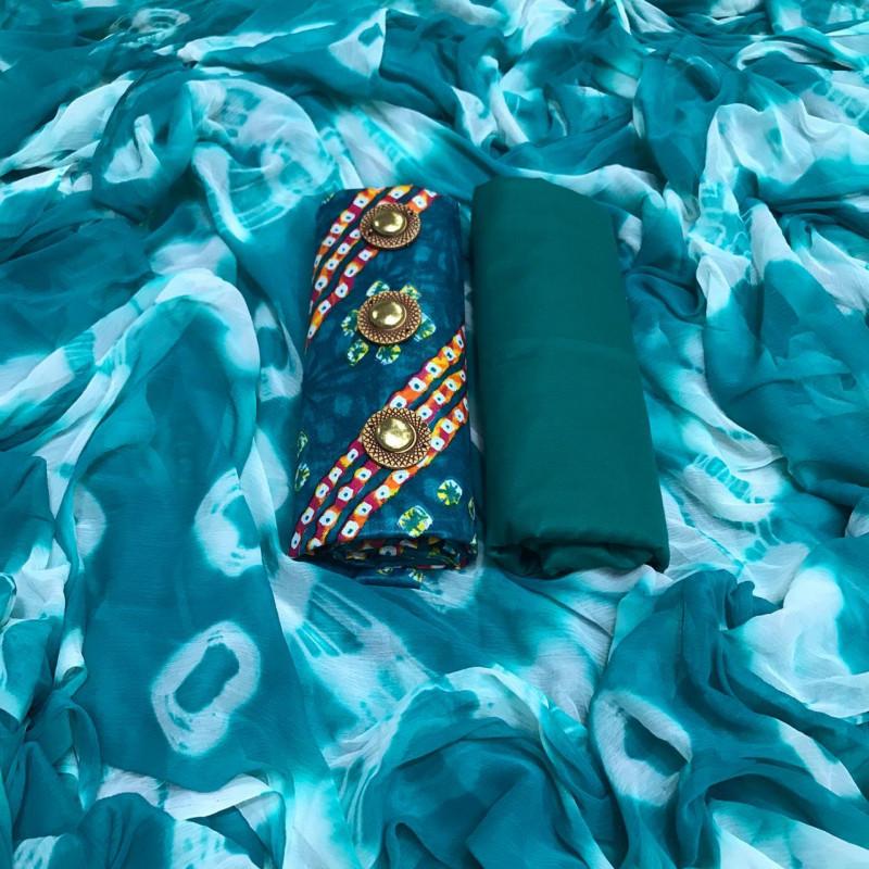 Latest Rama Color Printed Dress Material