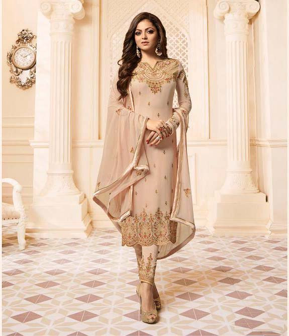 Designer Cream Color Salwar Suit