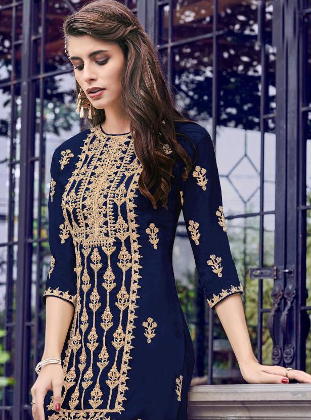 Blue Color Sharara  Suit Online