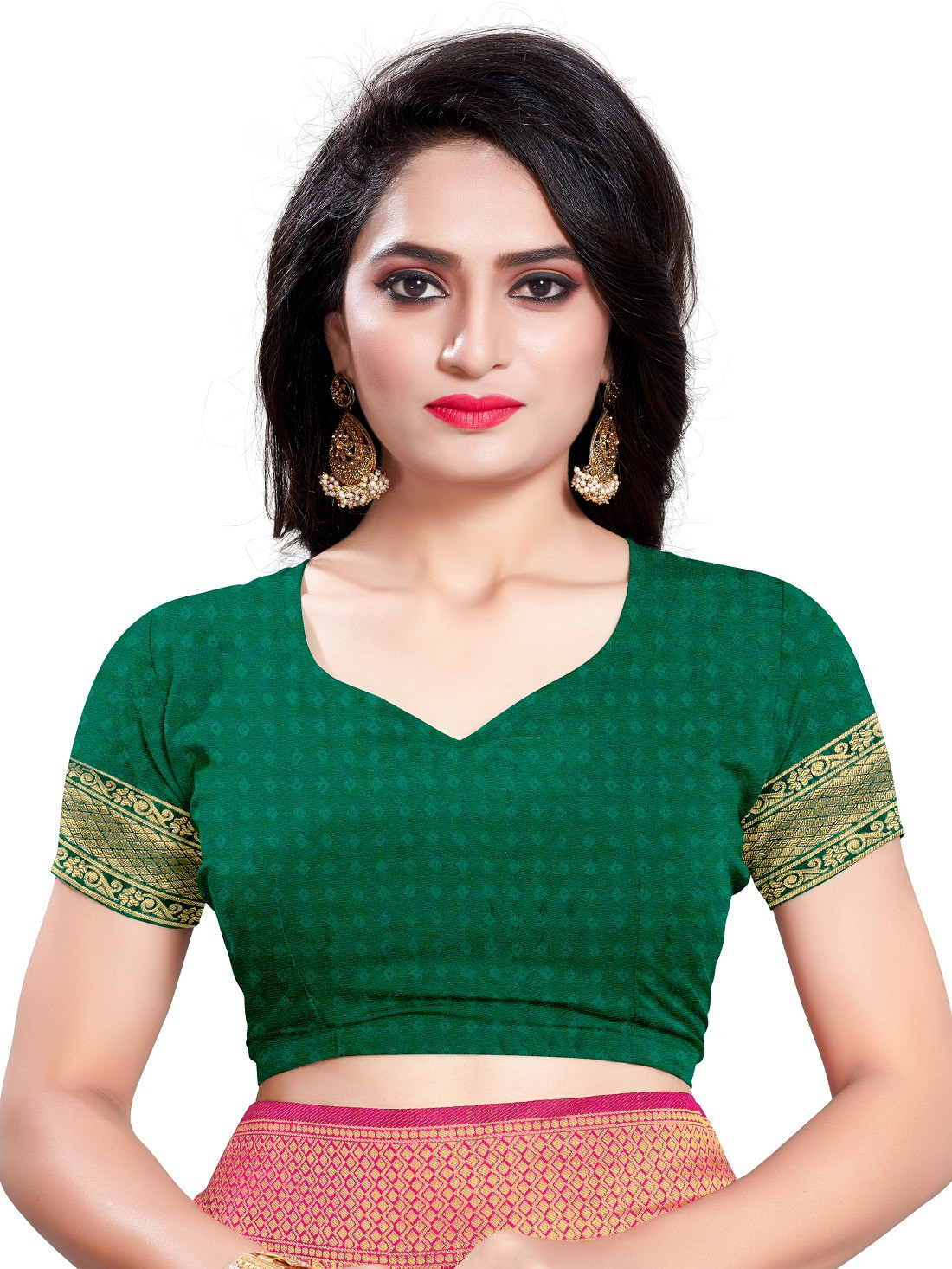 Wedding Wear Green Color Silk Saree With Blouse