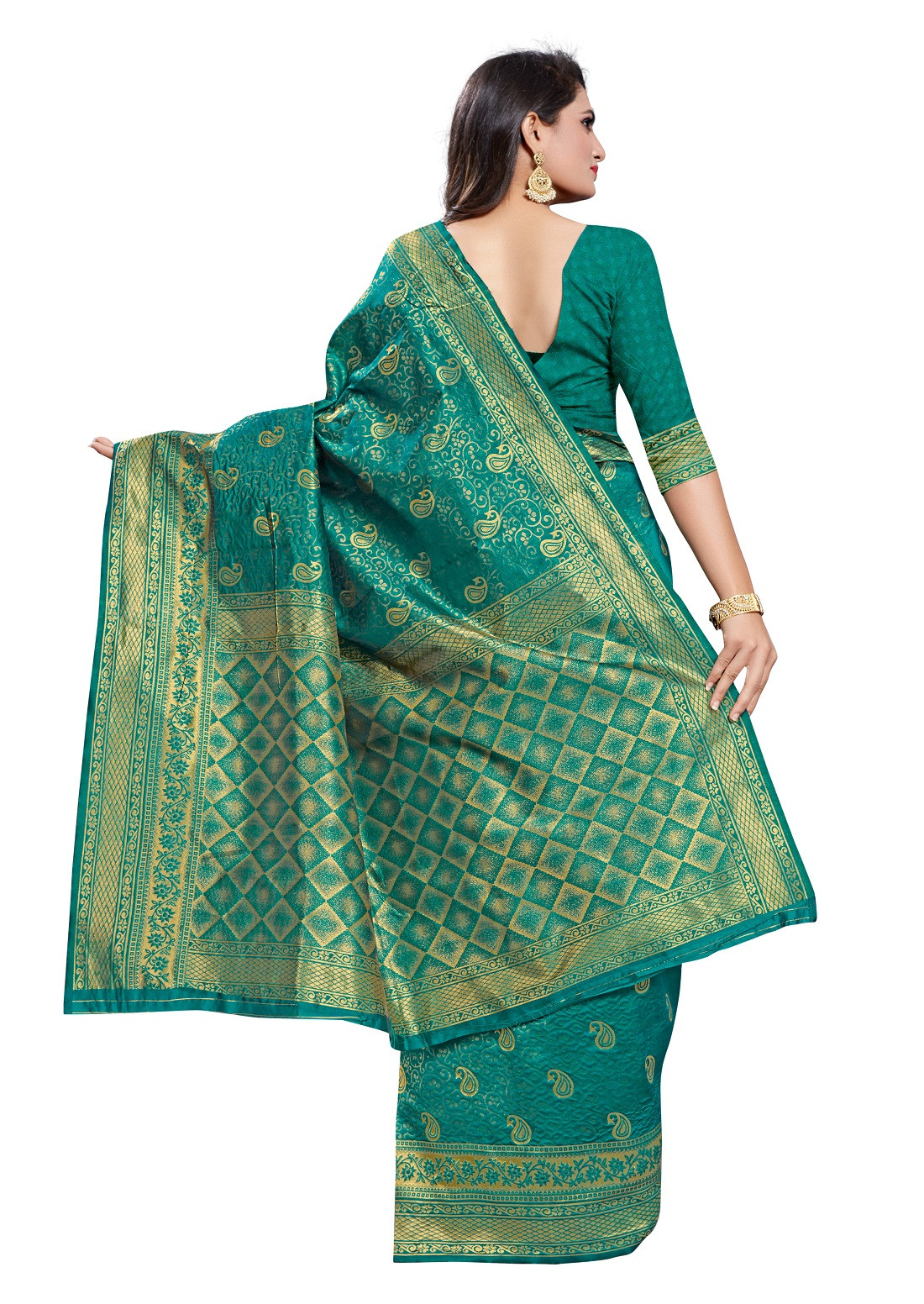 Party Wear Poly Silk Saree With Jacquard Work