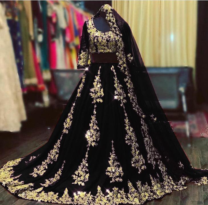 Designer Black Color Lehenga