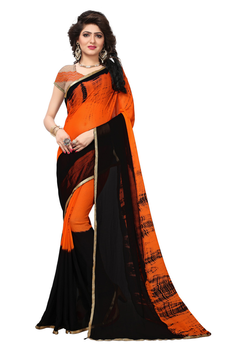 Latest  Bandhani Printed Saree