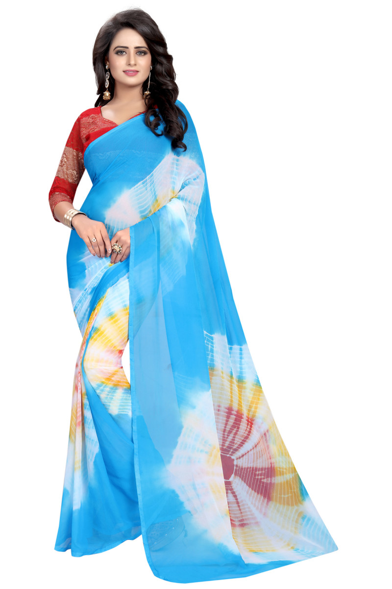 Party Wear Multi Color Silk Saree