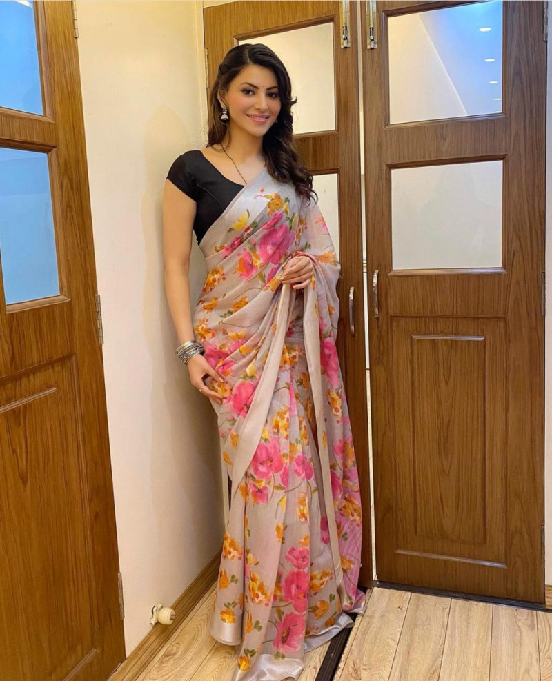 Multi Color Printed Saree