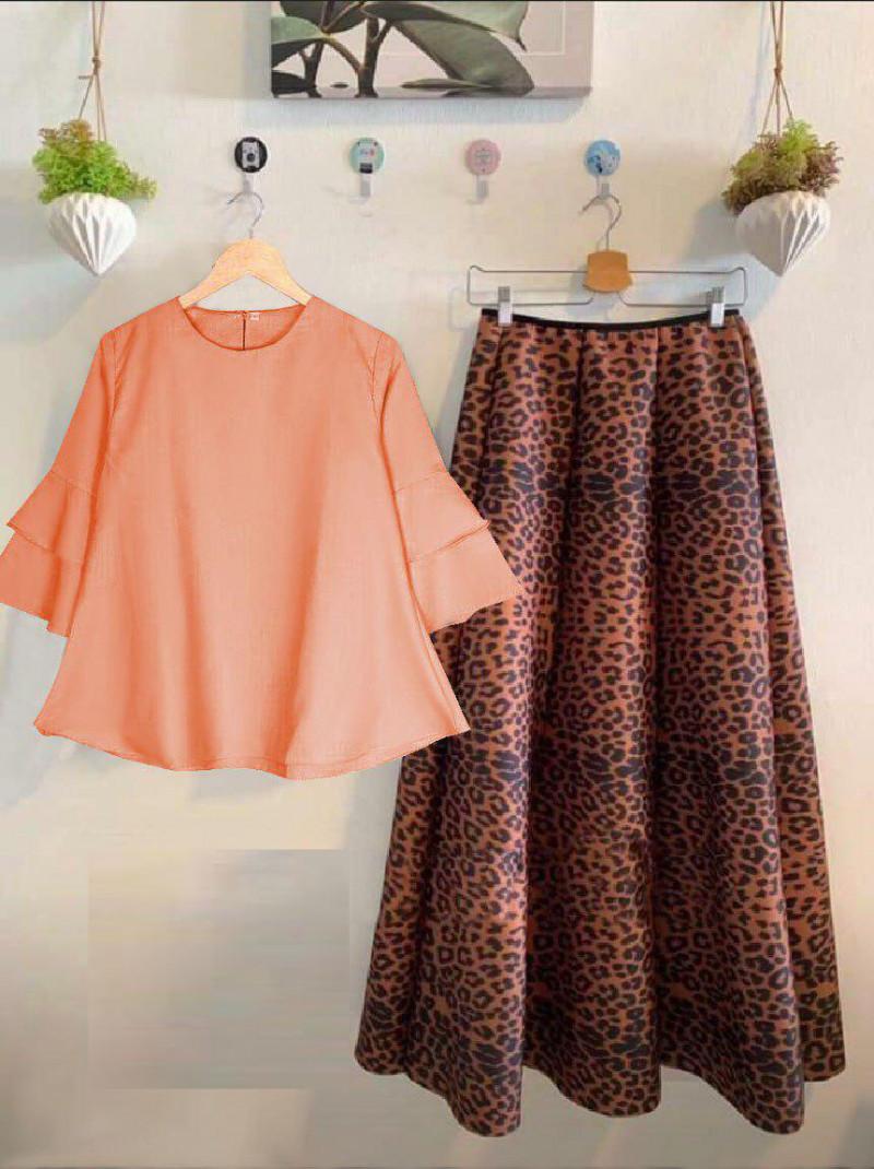 Orange Color Rayon Crop top