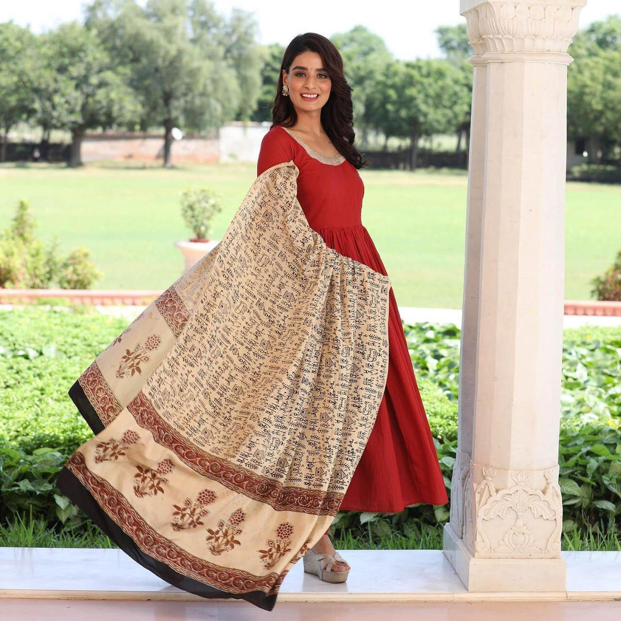 Designer Red Color Anarkali Suit