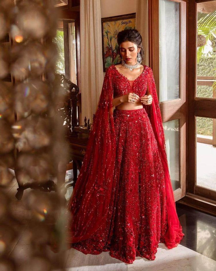 Party Wear Red Color Designer Lehenga Choli
