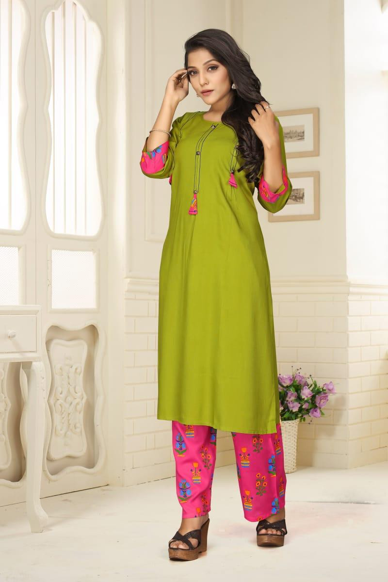 Stylist Parrot Green Palazzo Suit