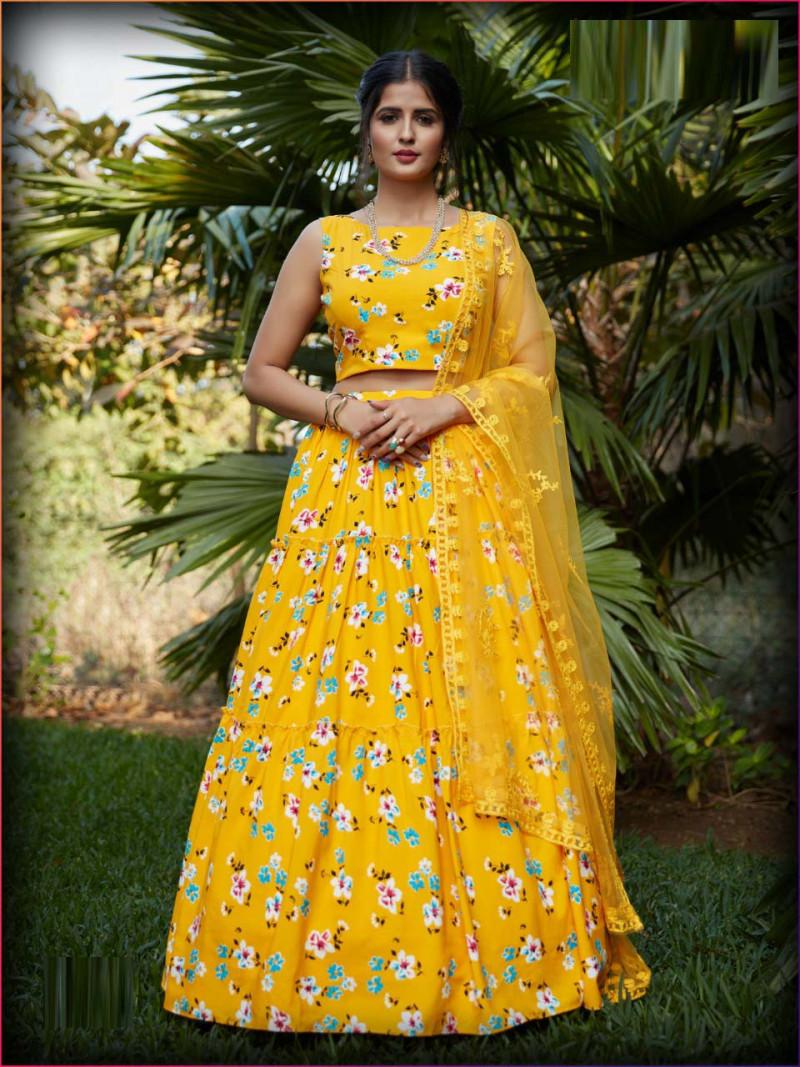Desiger Yellow Color Lehenga Choli