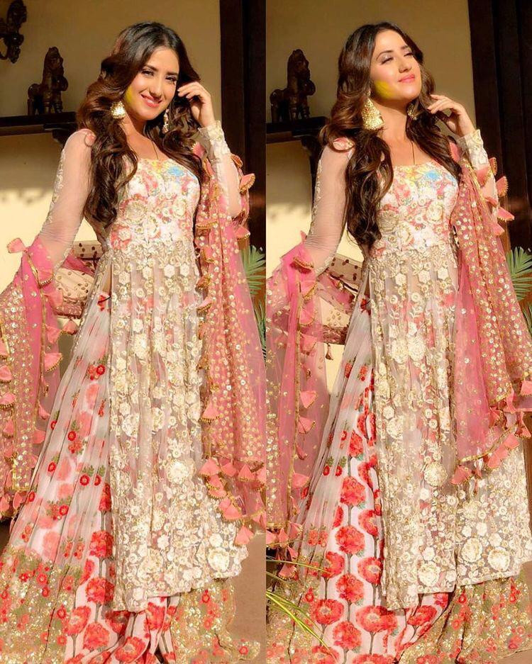 Party Wear White Top With Lehenga