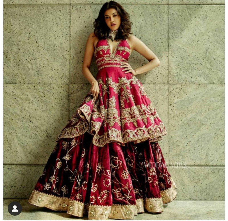 Latest Bollywood Stylish Pink Sharara Suit For Wedding
