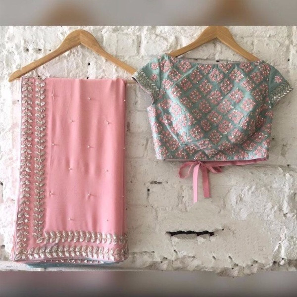 Latest Pink All Time Hit Saree Design