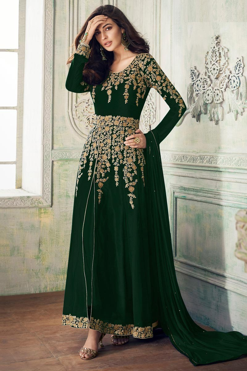 Mesmeric  Green Color Embroidery  Wedding Suit