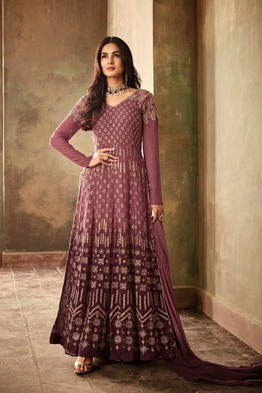 Adorable Purple Color Heavy Embroidery Salwar Suit