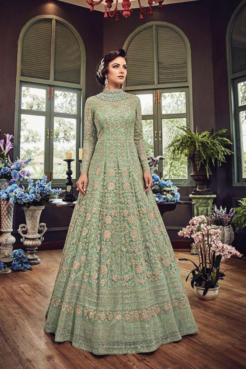 Magnetic Pista Color Heavy Net  Wedding Suit