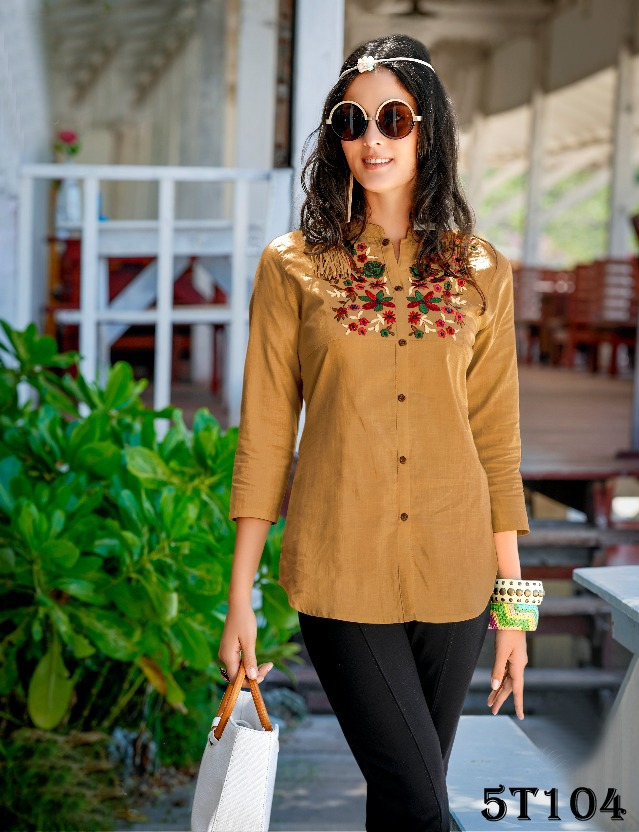 Flaunt Brown Colored Pure Heavy Rayon Top
